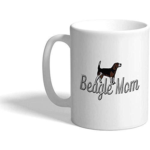 Taza de café personalizada 330 ml Beagle Mom Mama Dog Pet Ceramic Tea Cup Design