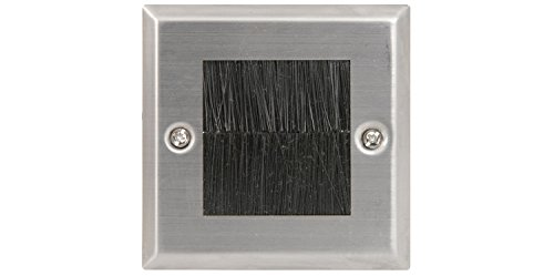 Brush Wallplate Single | Steel