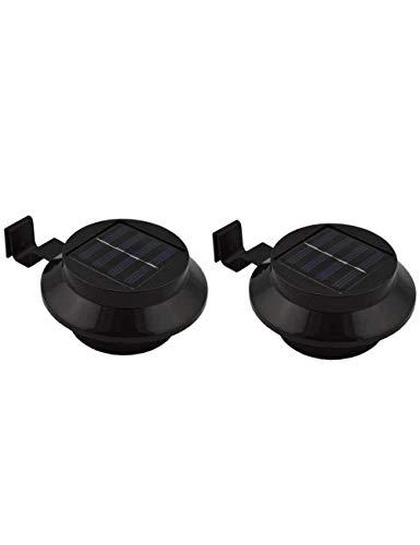 2 Packungen Solarbetriebene 3 LED Warmweiß Zaun Dachlampe Lampe Outdoor Garten Für Wand Garten Waschbecken Deck