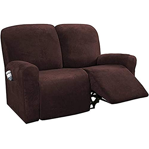 BXFUL Funda de Sillón Relax Elástica Completo Protector para Sillón Reclinable Capuchas elásticas para sillón, Elástico Funda para sillón reclinable (marrón)