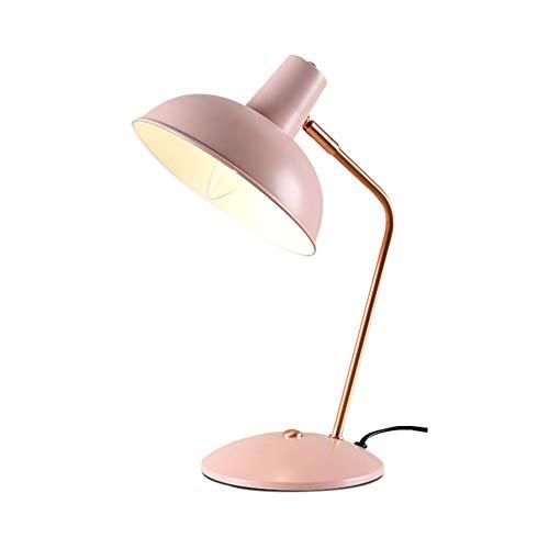 LCZ Postmodern Einfache Tischlampe Kreative Persönlichkeit Eisen Craft Schreibtischleuchten for Studie Augenschutz Wohnzimmer Beleuchtung Lampen,Rosa
