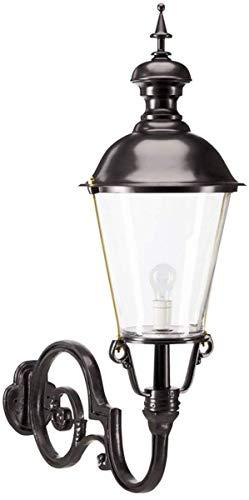 Casa Padrino Jugendstil Außenwandleuchte/Außenlampe Schwarz 37 x 76 x H. 105 cm Qualität, Farbe:schwarz