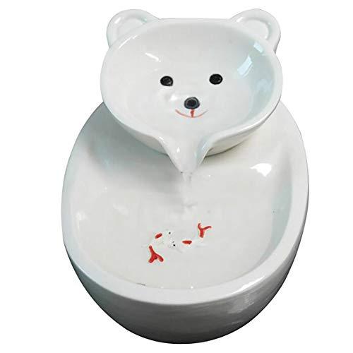 CXD Haustier-Trinkwasser-Brunnen,Pet Companion Katze Begleiter, Intelligent Circulation gefiltertes Wasser, Ultra-Quiet-Beleg,Weiß