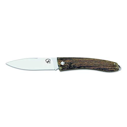 ELECTROPOLIS Messer Salamander 210051, Klinge 1.4116 von 8 cm, Griff Bocote von 10 cm, Schließkolben + Taschentuch desenfunda