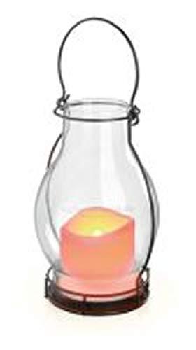 Moderne Solarleuchte Deko Dream mit kerzenähnlichen Flackerlicht hochwertige Glasausführung 102081