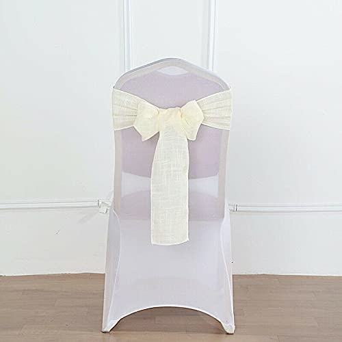 5 Selling rankings Chair Sashes Premium Polyester Burlap Party Faux Product naKN Wedding