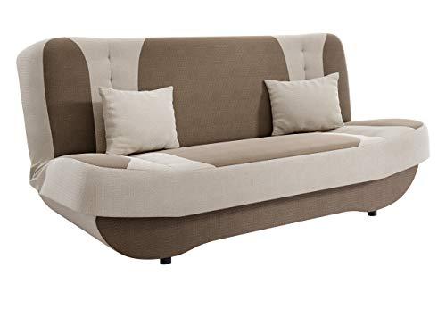 Sofa Pinto mit Bettkasten und Schlaffunktion, Schlafsofa, Farb- und Materialauswahl, Wohnlandschaft, Couch vom Hersteller, Schlafcouch (Makalu 3 + Makalu 1)