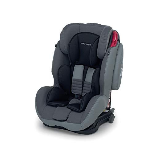 Foppapedretti Isodinamyk Seggiolino Auto ISOFIX Gruppo 1/2/3 (9-36kg), per Bambini da 9 Mesi Fino a 12 Anni, Grigio