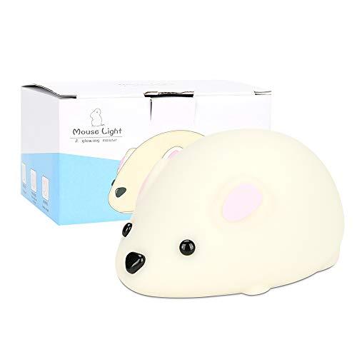 Bestcool Silikon Nachtlicht, warm & weiß LED Licht Kinderzimmer neben Lampe USB wiederaufladbare Nachtlampen mit 2 einstellbaren Modi, Touch-Sensor-Timing-Funktion für Babyzimmer, Schlafzimmer