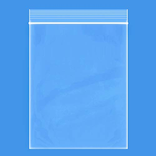 """Edvision 9"""" x 13"""" Plastic Bags, 200 Count 2 Mil Transparent Resealable Zipper Poly Bags, Reclosable Storage Bags for Jewelry Supplies, Beads, Screws, Small Items"""