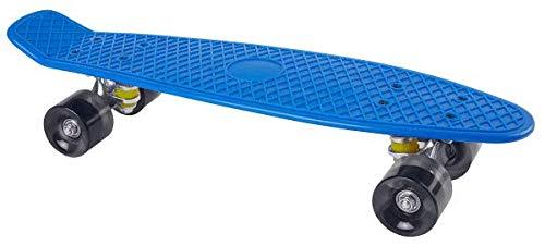 For Sport Mini-Skateboard (Blau) Skateboard 55 cm Mini Cruiser ABEC 7 Kugellager Retro Stil Rollen Komplett fertig montiert