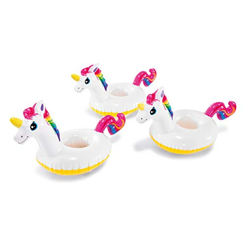 Intex Floating Unicorn Inflatable Drink Holders, 3-Pack
