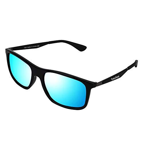 bedee Gafas de Sol Hombre,Gafas de Sol Polarizadas Aptos para Conducir, Pescar e Ir en Bicicleta Montaña,Lentes UV400 Y Montura De TR-90,100% De Protección UV(Azul) …