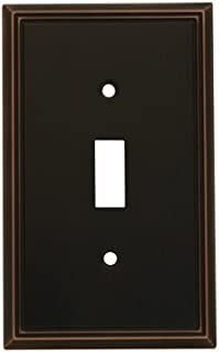 Cosmas 65003-ORB Oil Rubbed Bronze Single Toggle Switch Plate Switchplate Cover
