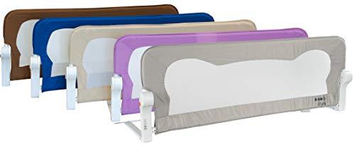 ib style® FINN Bettgitter   Reißfest & Stoßsicher   4 Abmessungen   4 Farben   Höhe: 42 cm   120cm   Violett