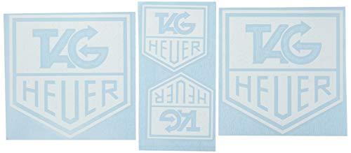 Ecoshirt HJ-MQ00-GYEI Stickers Tag Heuer Clock R68 Vinyle adhésifs Decal Aufkleber, Adhésifs Car Voiture Sport Racing, Blanc