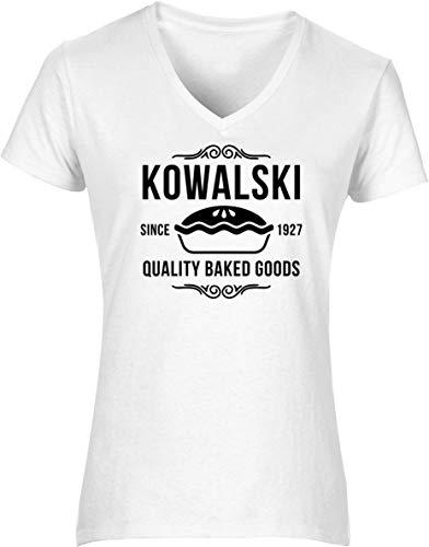 Hippowarehouse Kowalski Fantastic Quality Baked Goods Womens V-Neck Short Sleeve t-Shirt (Specific Size Guide in Description) Fuchsia Pink