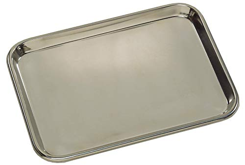 Grafco Metal Mayo Tray for Medical Instruments, Dental, Tattoo and Surgical Supplies, Stainless Steel, 13-5/8 x 9-3/4 x 5/8, 3261