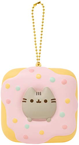 Hamee Pusheen Tabby Cat Junk Food Slow Rising Squishy Toy [Square Series] (Donut) [Christmas Tree Ornaments, Gift Box, Party Favors, Gift Basket Filler, Stress Relief Toys]