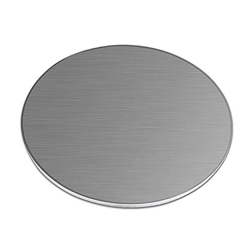 SHHMA Chapa De Acero Inoxidable Lámina De Acero Inoxidable Forma Redonda, Apta para Modelismo, Grosor 4 Mm,Diameter:250mm