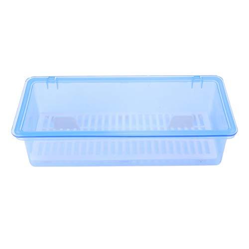 UPKOCH - Organizador para cubiertos de cocina, cajón de cocina con tapa para escurrir platos, organizador de plástico (azul) m turquesa