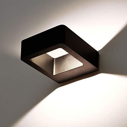 MODERNE LED Außenleuchte Außenwandleuchte IP54 schwarz 6W Wandlampe Wandleuchte up&down Außenlampe Lampe 1305A wandaußenleuchte