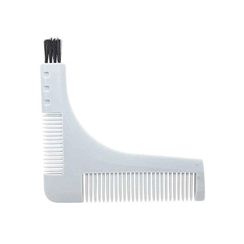 Demarkt Bartkamm Bart Schablone Kamm Schnurrbart Werkzeug Pflege Bart Styling und Gestaltung Vorlage Kamm Werkzeug für perfekt Bartform Rasur der Bartlinie Weiß