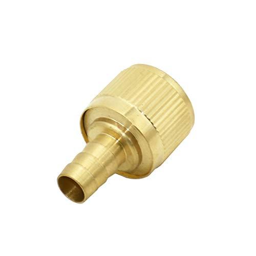 LHjin-Accesorio de latón Duradero, Manguera de 12 mm de latón 1/2' Barb Conector telescópico Conjuntos, Cobre Conector rápido del Grifo Adaptador Adecuado, PC 1 Accesorios