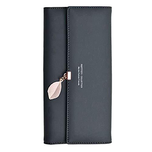 Puerta moneda Mujer, Monedero, piel bifold wallet piel piel piel tipo tarjetero Monedero de piel A- Couleur 01 talla única