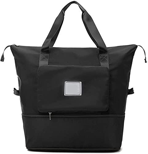 Portable Lightweight Waterproof Oxford Fabric Bag,Travel Duffel Bag,Shoulder Weekender Overnight Bag,Foldable Duffel...