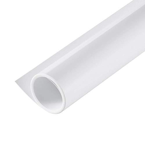 Selens PVC Hintergrund 40x66.5cm Fotografie Hintergründe Matte und Glatte Doppelseitiger Background für Fotostudio Weiß