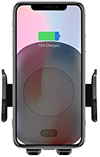 Wireless Car Charger, JANKET Fast Infrared Car Mount Wireless Charger 10W Qi Wireless Charger Phone Holder Compatible for iPhone Xs/XR /X /8 Samsung Galaxy S9 S8+ S8 S7 S7edge S6 All Qi Devices.