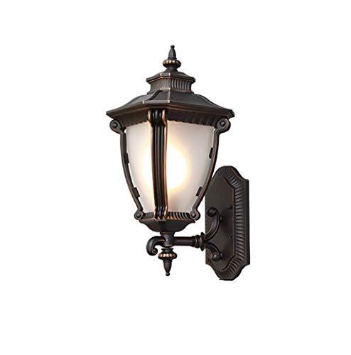 Waterdichte wandlamp voor buitenshuis ZS, buitenwandlamp op netvoeding moderne klassieke buitenwandverlichting waterdichte LED tuinlamp aluminiumlegering mat glas lampenkap voor hal P