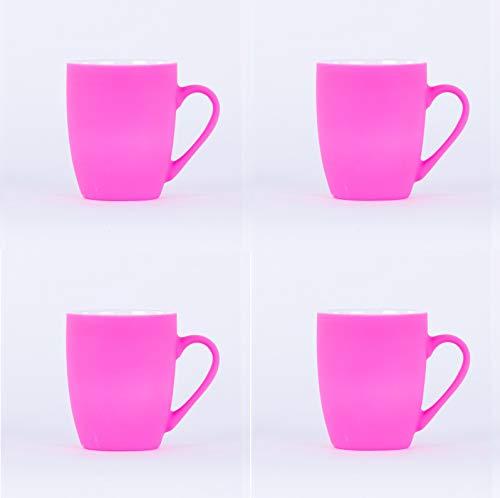 Homevibes Juego De 4 Tazas De Ceramica De Desayuno, Tazas para Infusiones, Taza Mug Ceramica, Set de 4 Tazas para Cafe o Te