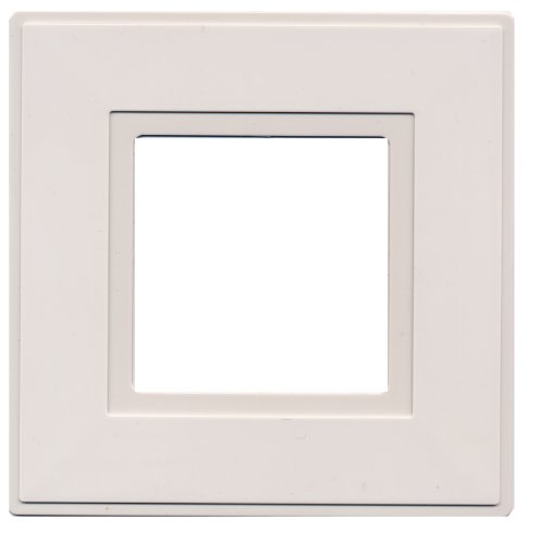 Luz Interruptor Surround Dedo Placa Blanco [2 Empacar]
