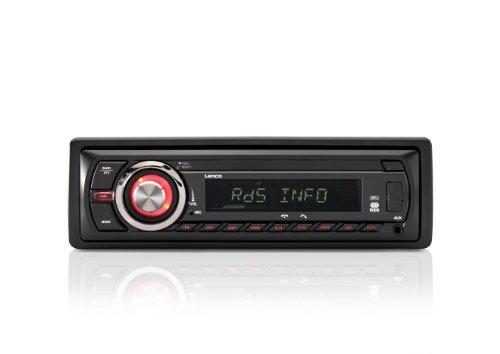 Lenco CS-430 BT AM/FM Autoradio mit USB-Anschluss, SD Kartenleser und BluetoothFunktion, RDS Steuerung, 4x 40 W Musikleistung, abnehmbare Front mit LCD-Display und 3,5mm AUX-Anschluss