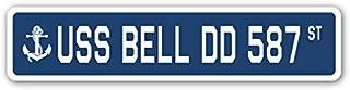 Cheyan USS Bell DD 587 Street Sign Navy Ship Veteran Sailor Vet USN Gift Metal Sign 4