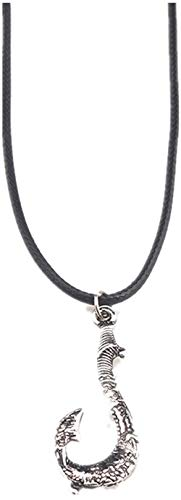 NC110 Magical Fish Hook Pendant Ocean Romance Necklace Color-Silver