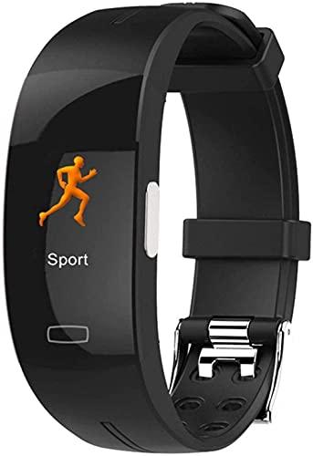 Fitness Tracker Smart Watch Pulsera inteligente PPG+ECG Tipo de fotoelectrodo ECG Presión arterial Medición de la frecuencia cardíaca IP67 Impermeable Negro+Azul-Negro