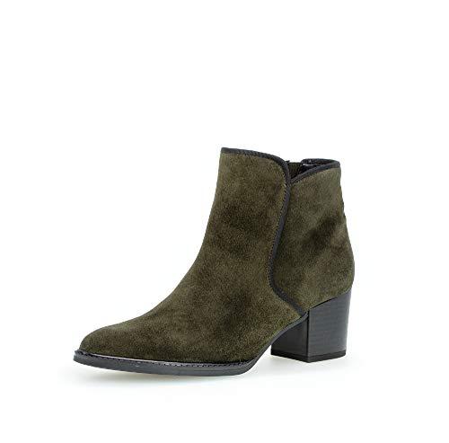 Gabor Damen Stiefeletten, Frauen Ankle Boots,Mehrweite,Reißverschluss, halbstiefel Kurzstiefel uebergangsschuhe,Bottle (Micro),38.5 EU / 5.5 UK
