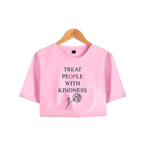 U CAN T-Shirt Unisex Rundhals Kurzarm T-Shirt Schwarz for Harry Styles