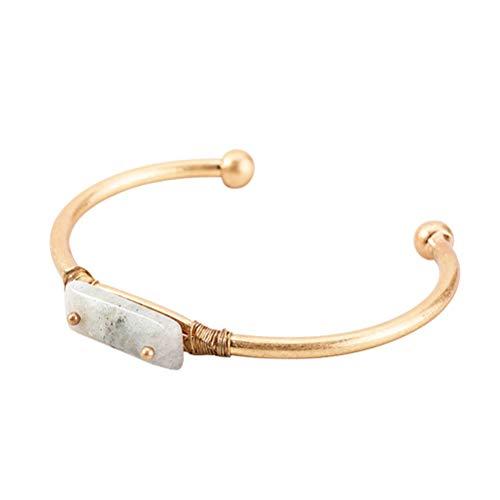 Pulsera unisex simple de oro galvanizado de arena, joyería de moda abierta ajustable para hombres y mujeres