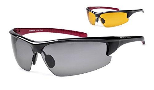 Polarisierte Sportbrille ARCTICA S-123A + Wechselgläser
