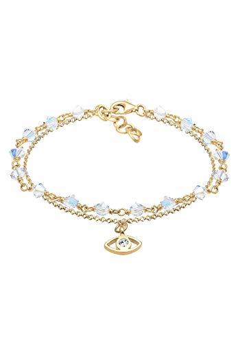 Elli Armband Damen Evil Eye mit Swarovski® Kristalle in 925 Sterling Silber vergoldet