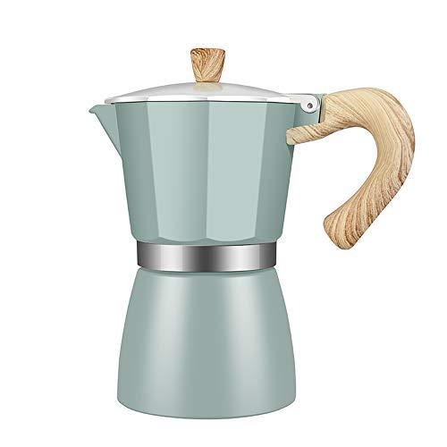 wivarra Caffettiera nel Alluminio Moka Espresso Caffettiera Caffettiera Caffettiera Moka Pot 3 Tazze Stovetop Caffettiera-150Ml