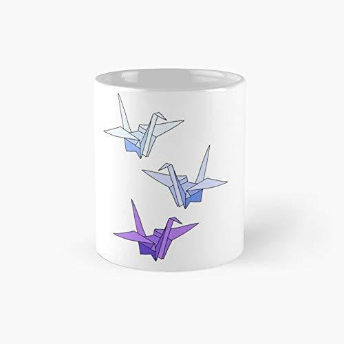 Thousand Origami Cranes Twilight Classic Mug | Best Gift Funny Coffee Mugs 11 Oz