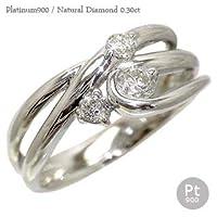 [エターナルジェム] ダイヤリング トリロジー 3ストーン 指輪 ダイヤモンド リング 0.3ct プラチナ900 レディース 15