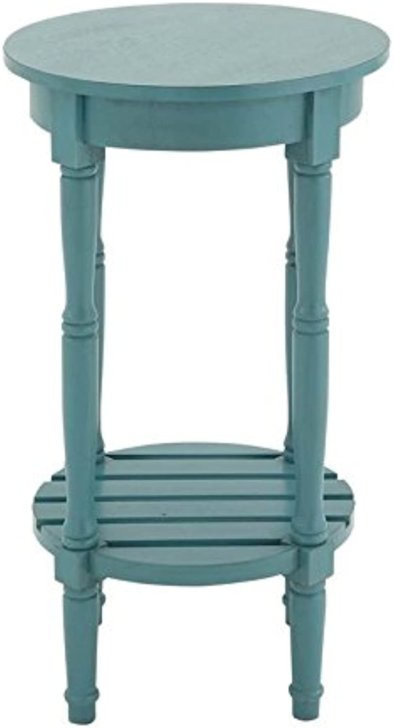 Deco 79 Wood Round Side Table, 16 by 29-Inch, Teal