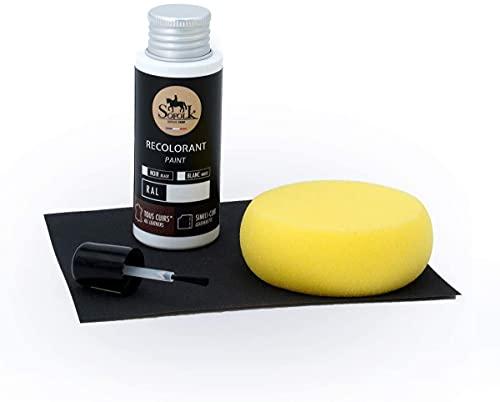 SOFOLK - Kit de reparación de Pinturas de Piel sintética y Vinilo, 21 Colores Disponibles, Cuidado para Asiento y Volante de Coche, sofá, Zapatos, Chaqueta y Otras Prendas (Negro - RAL 9005)