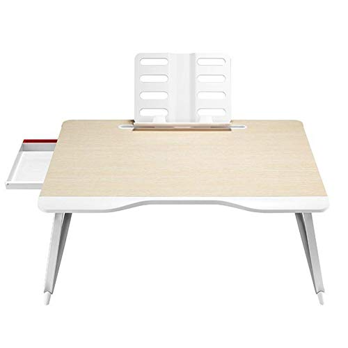 TWW Bed Small Table Bedroom Folding Multifunctional Computer Student Mobile Desk, Notebook Lazy Tatami Home Writing Homework Study Desk